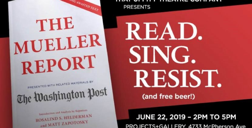 'The Mueller Report' Event: Read, Sing, Resist in CWE