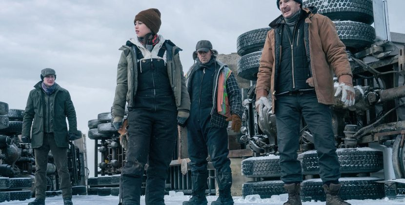 Big Rigs in Big Trouble in Liam Neeson's Latest 'The Ice Road'